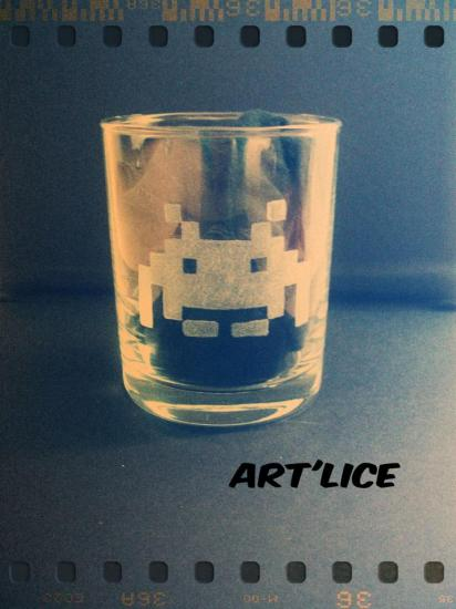 verre Space Invaders