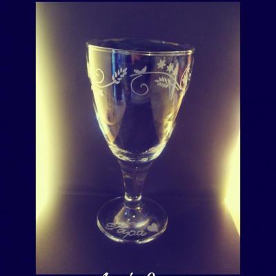 Verre à vin Arabesque papillon