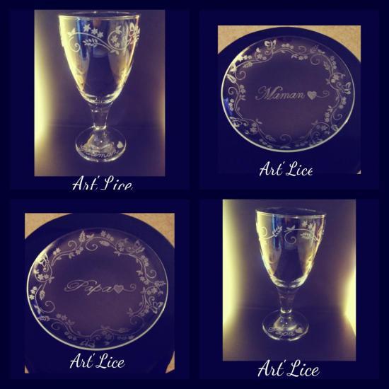 Ensemble Assiettes et Verre à vin